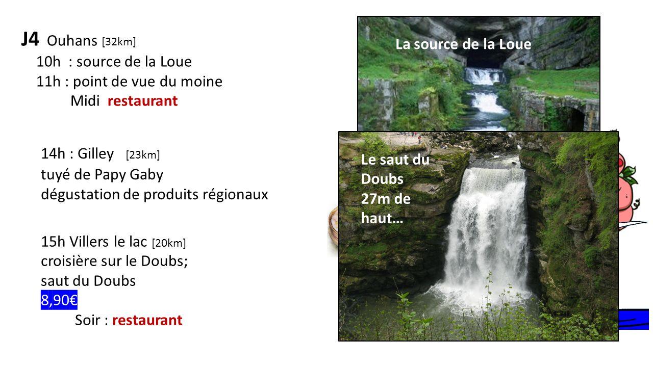 J4 Ouhans [32km] 14h : Gilley [23km] La source de la Loue